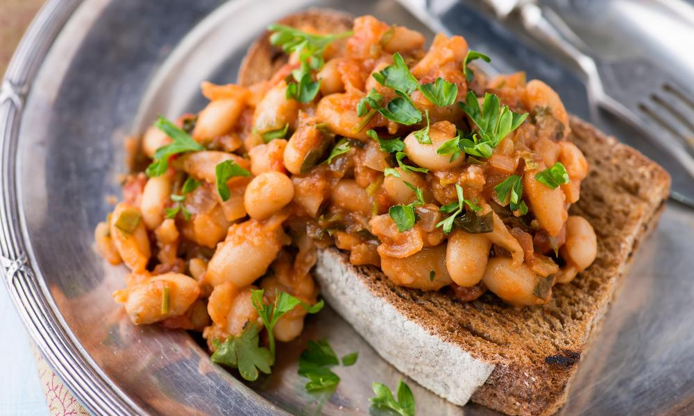 'Interesting beans' … spice them up with ginger, cumin, coriander and turmeric and serve on toast.