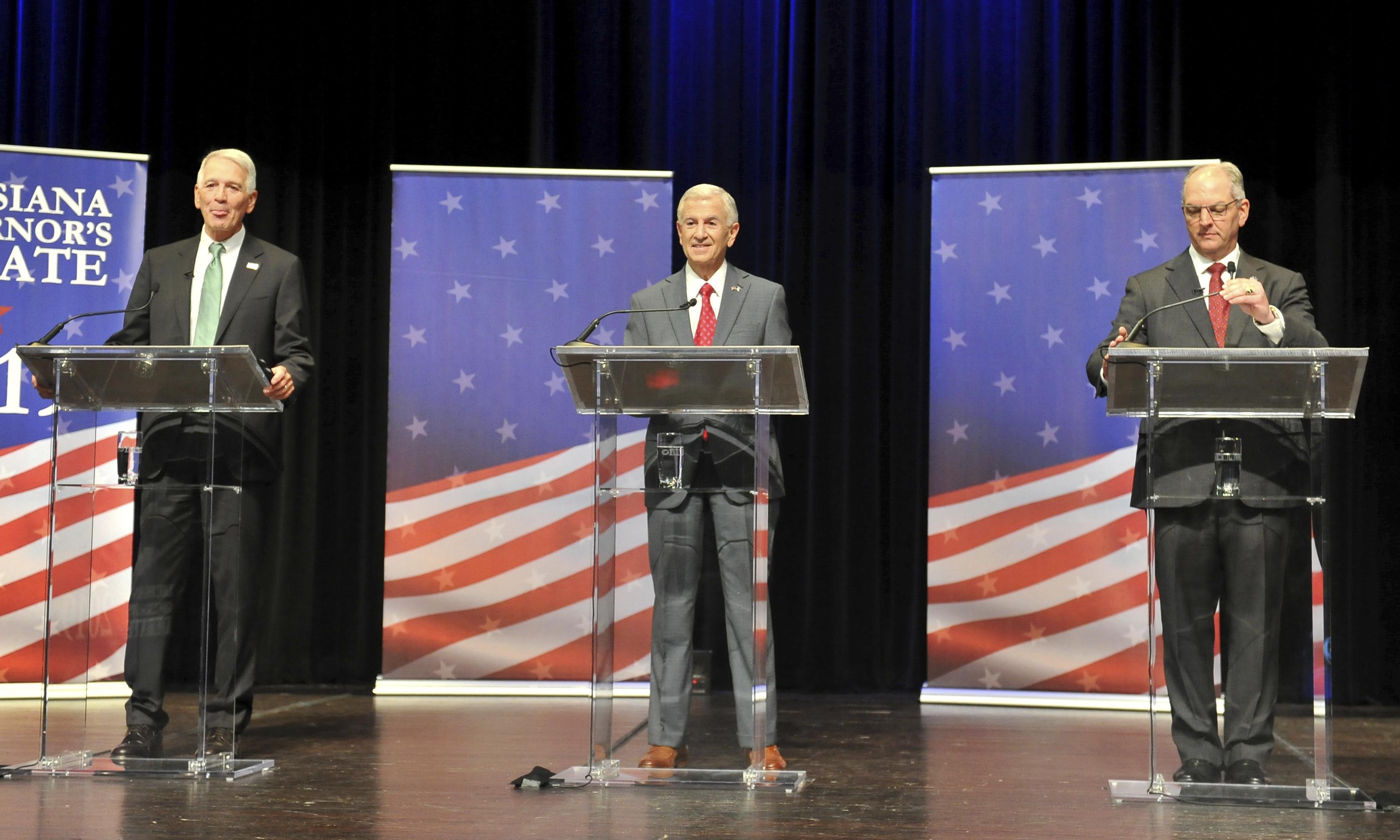 Louisiana's Democratic governor battles to avoid runoff election