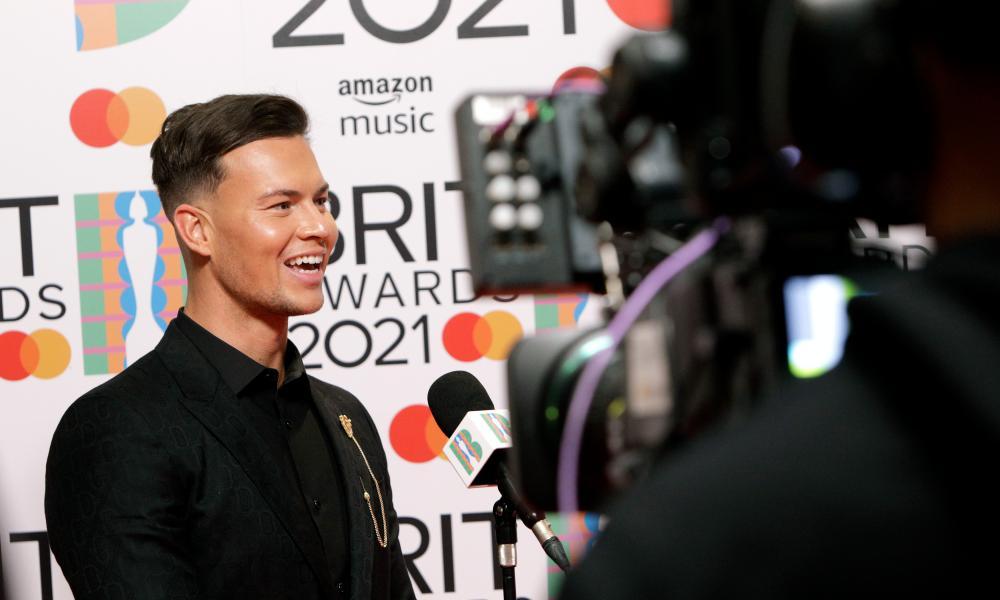Joel Corry at the 2021 Brit awards.