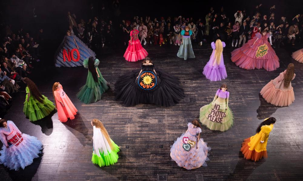 Viktor & Rolf show at Paris fashion week 2019
