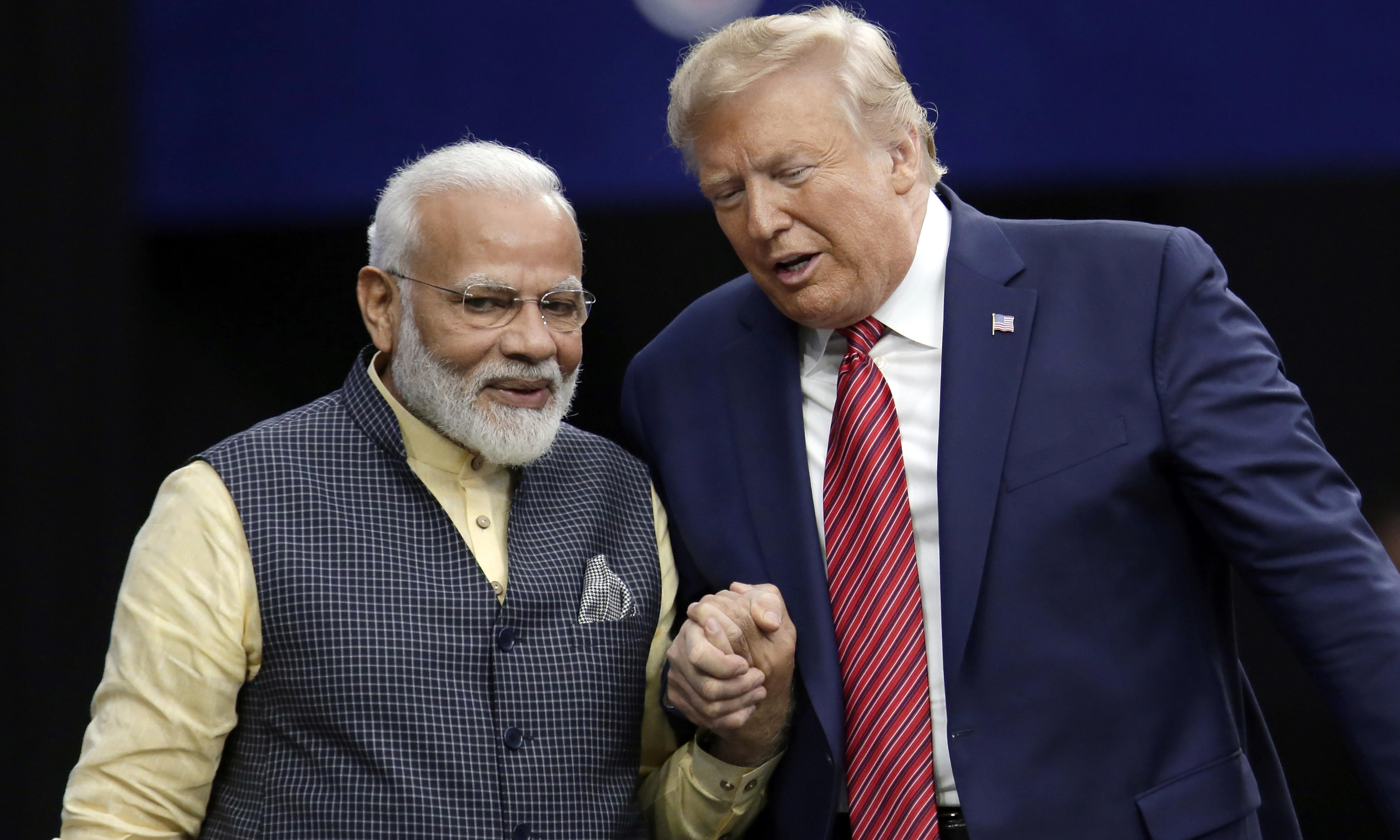 'Howdy Modi': thousands of Indian Americans attend Trump rally