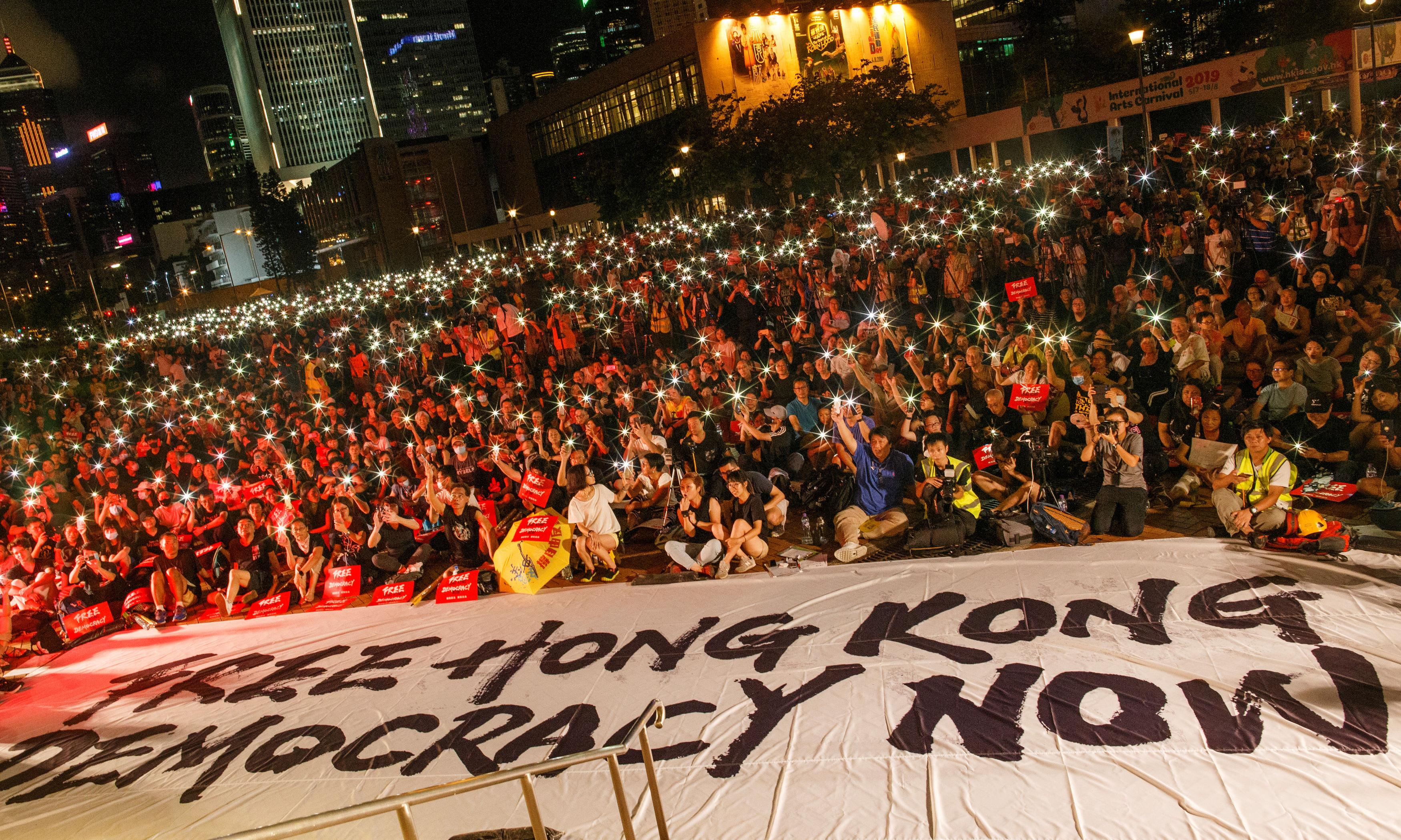 Hong Kong protesters seek support from G20 leaders over extradition law