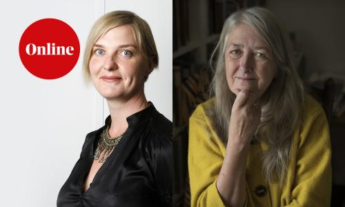Guardian chief culture writer Charlotte Higgins and Mary Beard, TV presenter and professor of classics at Cambridge University