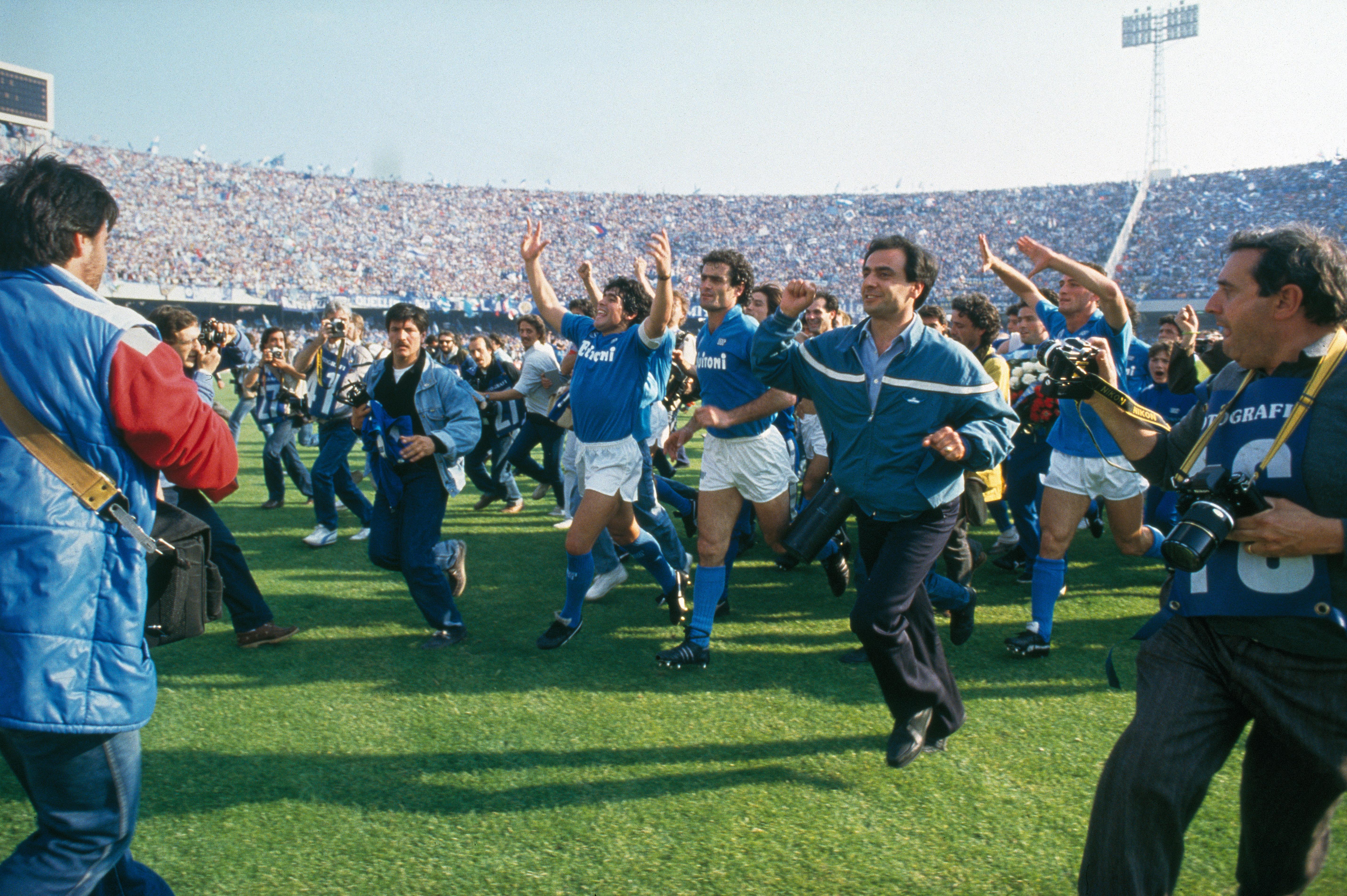Buy a classic sport photograph: Maradona, the 'God of Naples'