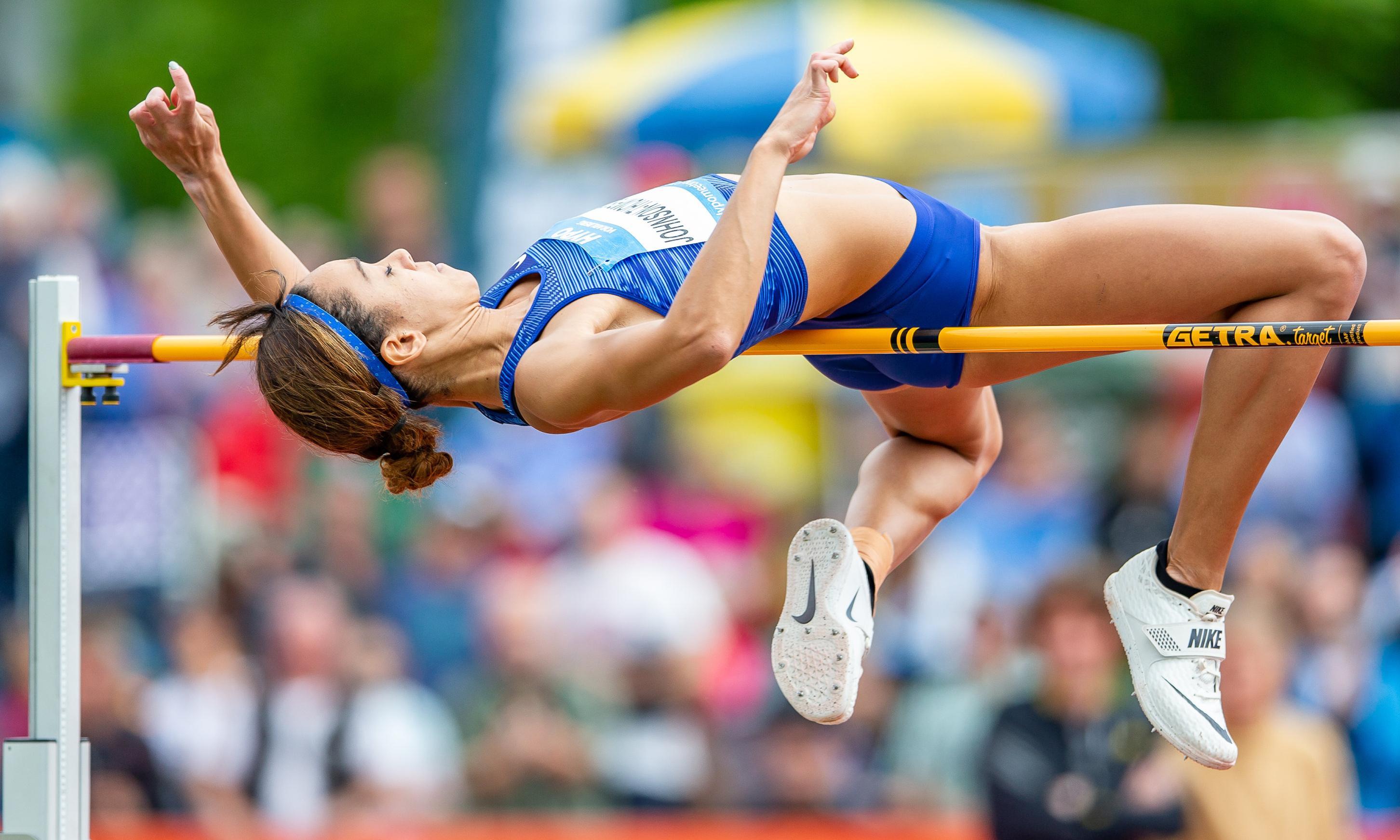 Katarina Johnson-Thompson storms past heptathlon field on Götzis day one