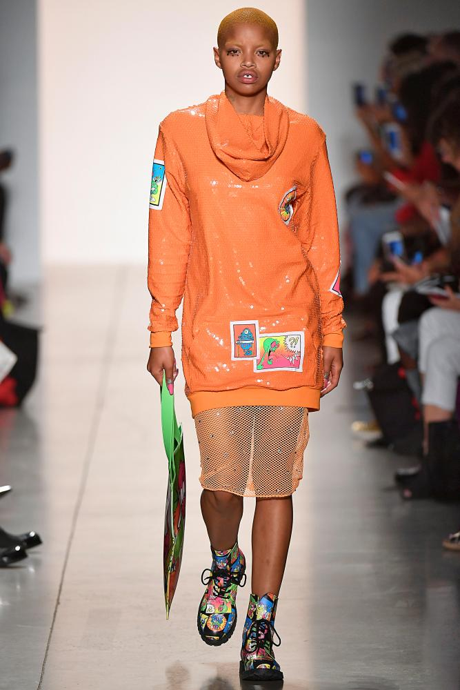 A back-to-front sweater by Jeremy Scott.