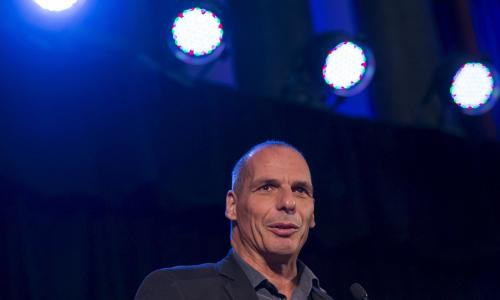 Former Greek finance minister Yanis Varoufakis hopes the UK will vote to remain within the EU. REUTERS/Neil Hall