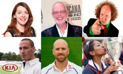 The Observer's Emma John, cricket fan and broadcast legend Bob Harris, comedian Andy Zaltzman, former internationals, Matt Prior, Simon Jones and Ebony Rainford-Brent.