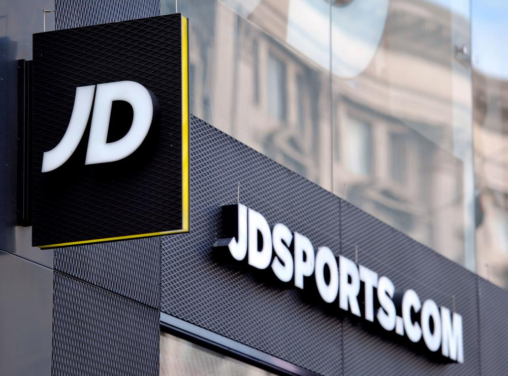 A shop sign for JD Sports in central London.
