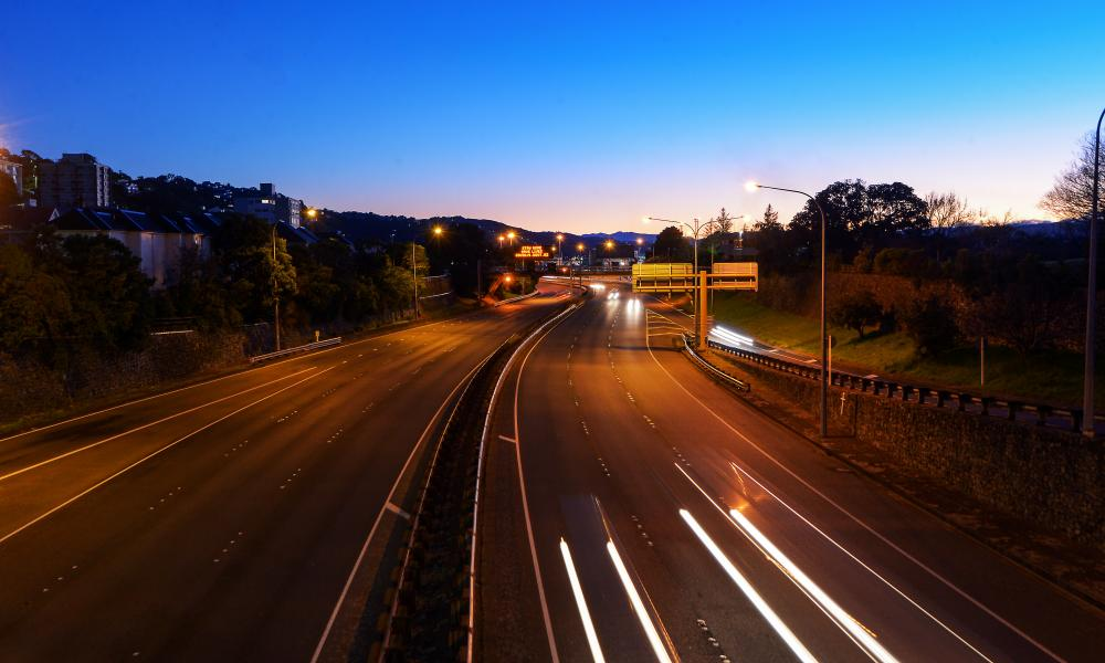 New Zealand's state highway 1 after the country switched to a level 3 lockdown outside of Auckland. Modellers predict case numbers will hit single digits next week.