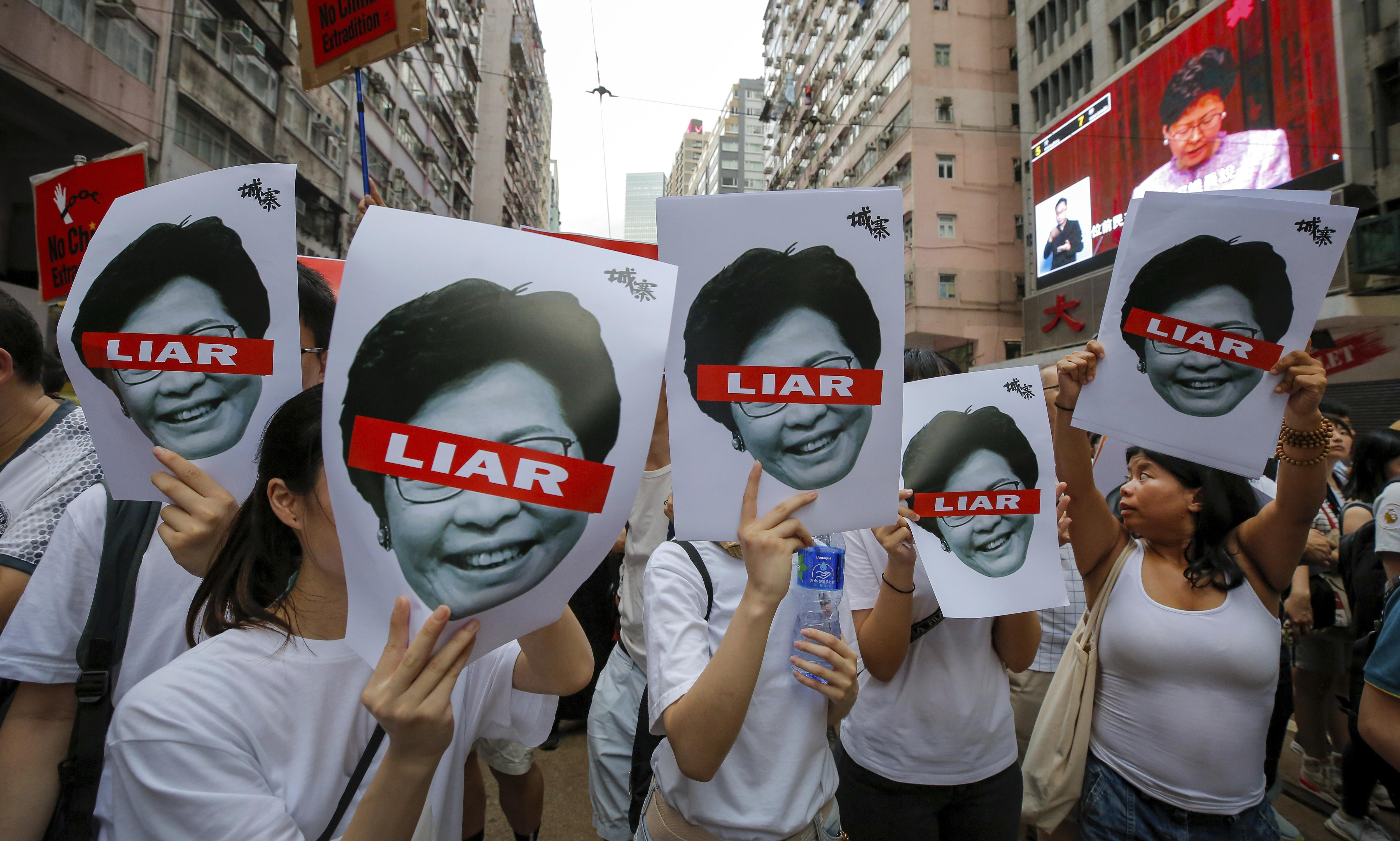 'Beijing's puppet': Carrie Lam faces reckoning in Hong Kong