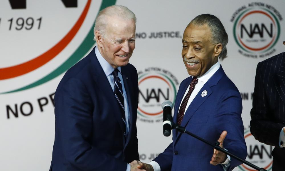 Joe Biden with Sharpton before the South Carolina Democratic primary in February last year.