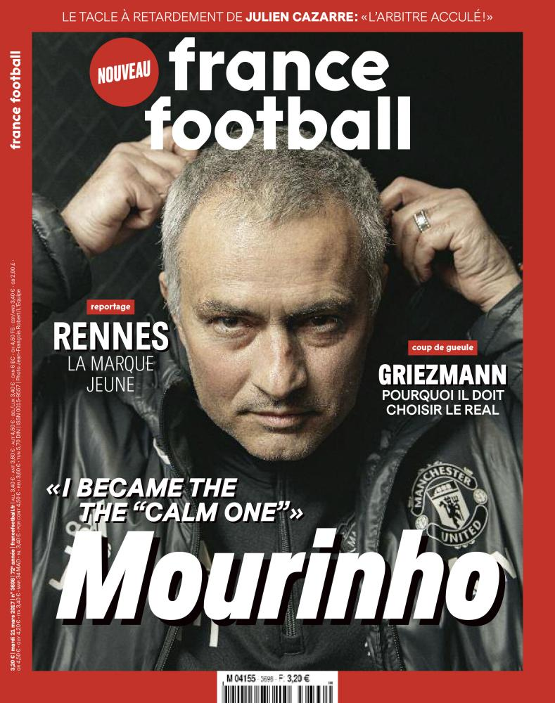France Football publishes its exclusive interview with José Mourinho on Tuesday.