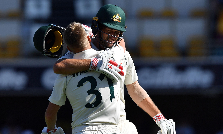 Centurion David Warner clicks with Joe Burns as Australia take control of first Test