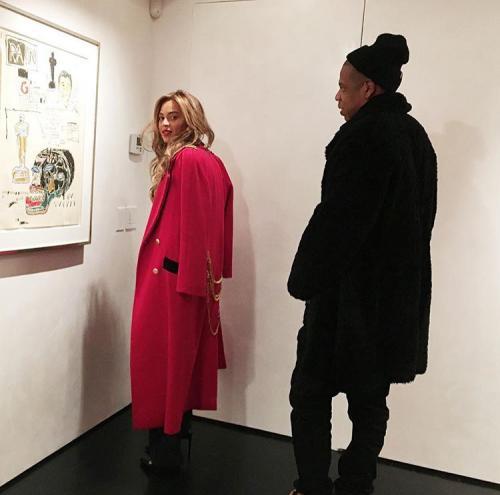 Beyoncé in a Jean Paul Gaultier-referencing Enfant Riches Déprimés jacket.