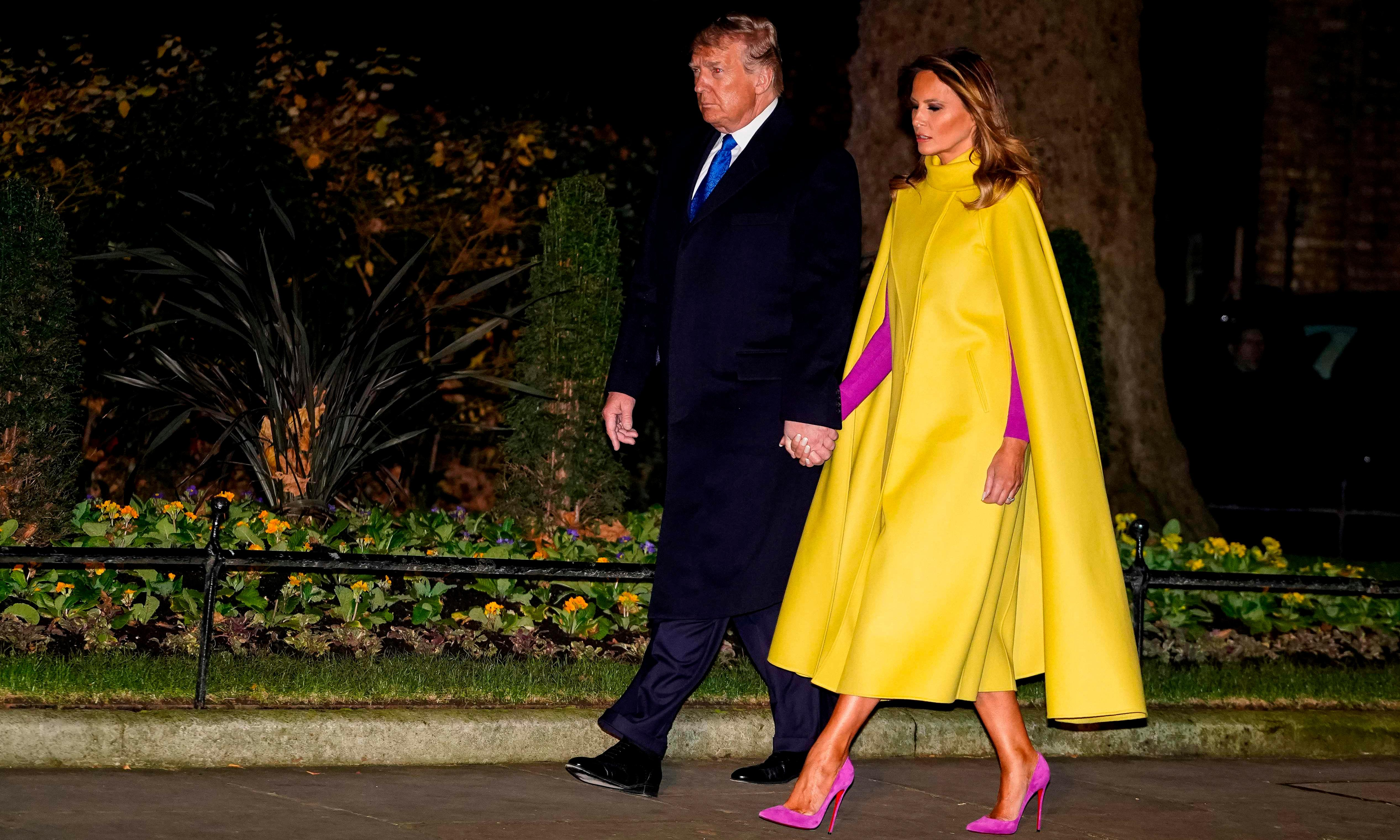 Style superstar or pop culture villain? The meaning of Melania Trump's cape