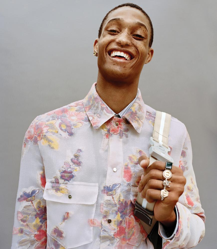 Model Romaine Dixon wears a design from Kim Jones's spring/summer 2019 collection for Dior.