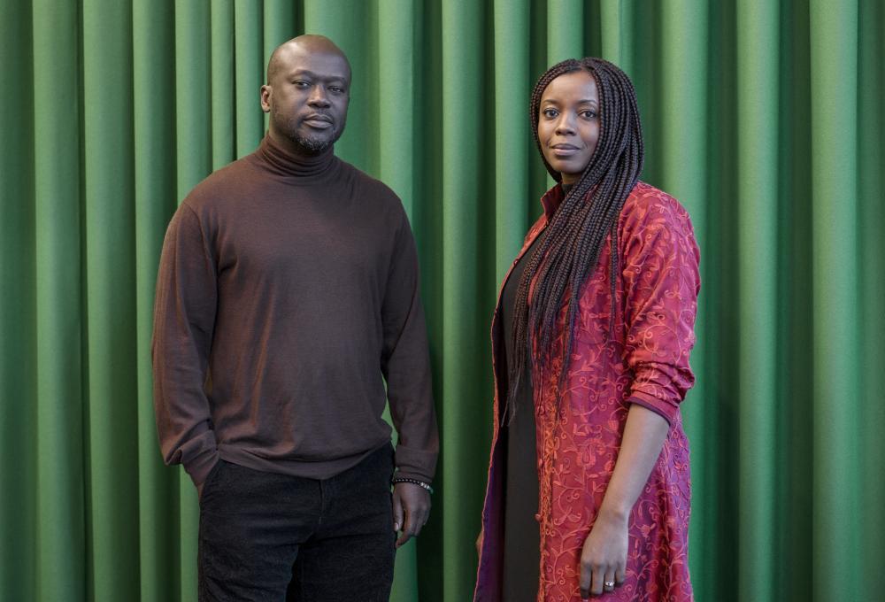 Architect David Adjaye with Mariam Kamara of Niger.