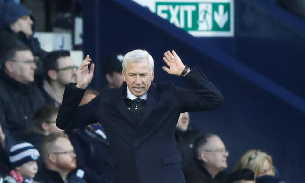 Frustration for Alan Pardew during the game.