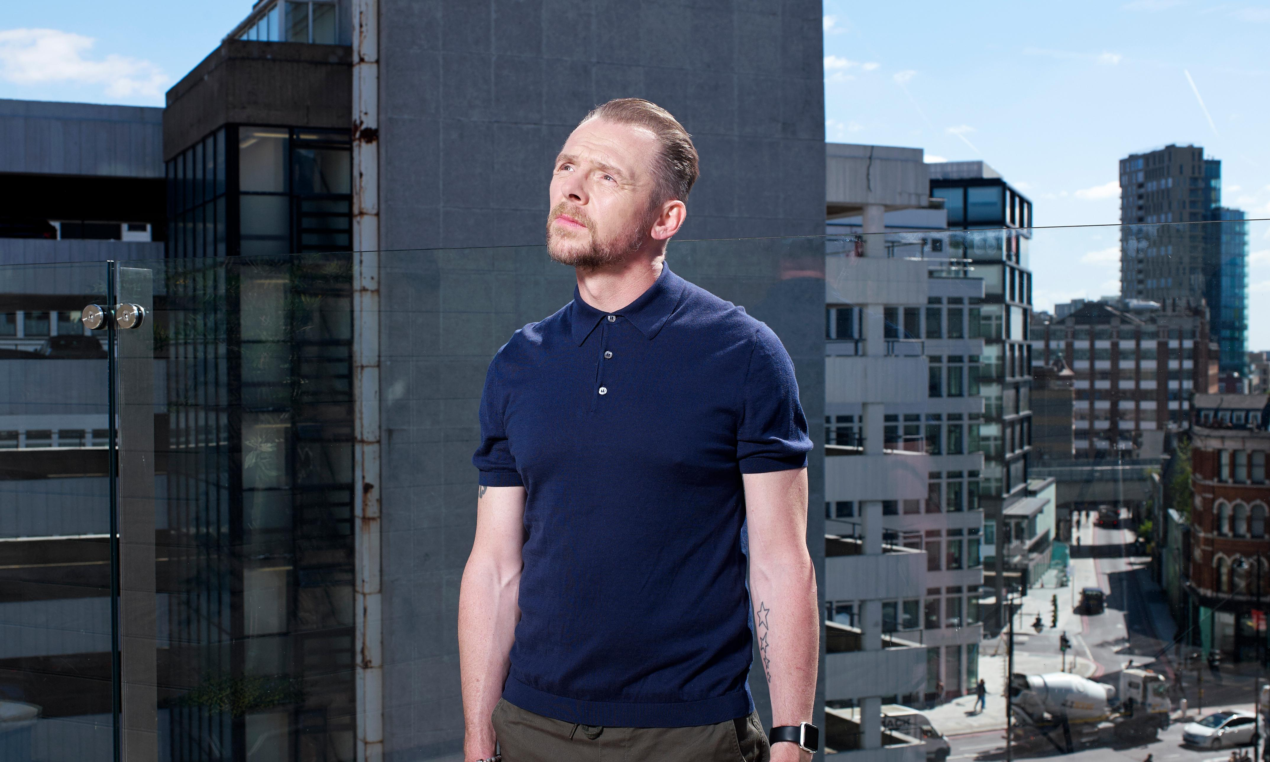 Simon Pegg: 'I was lost, unhappy and an alcoholic'