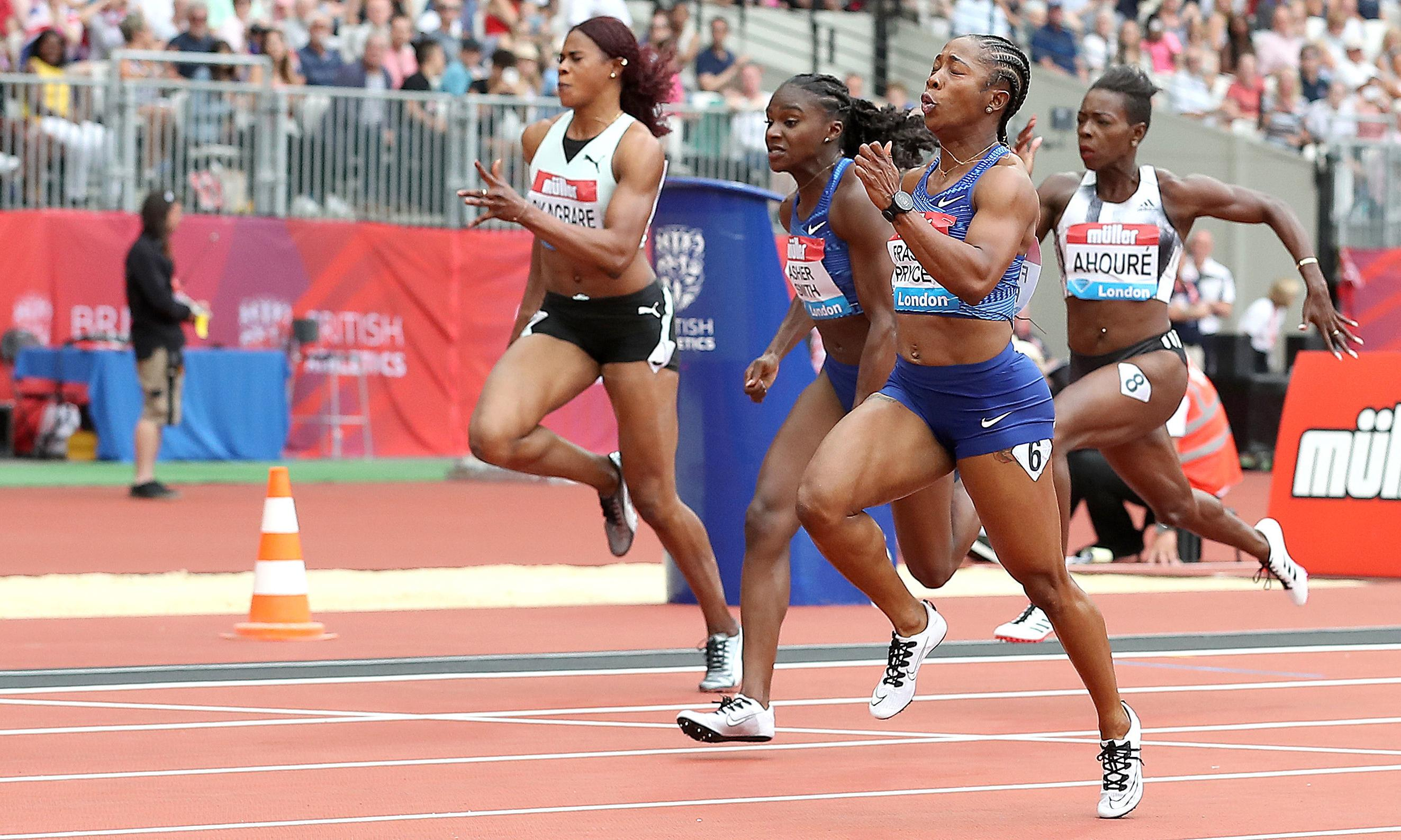 Dina Asher-Smith proud to finish second in 100m final at London Stadium