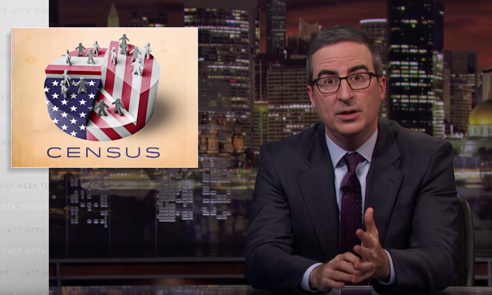 John Oliver: irritate Trump, fill out your 2020 census form