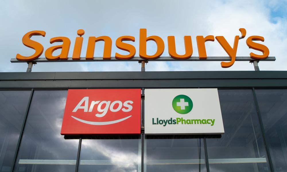 A Sainsbury's sign