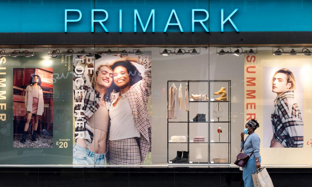 A woman walks past a Primark store in Marble Arch, west London