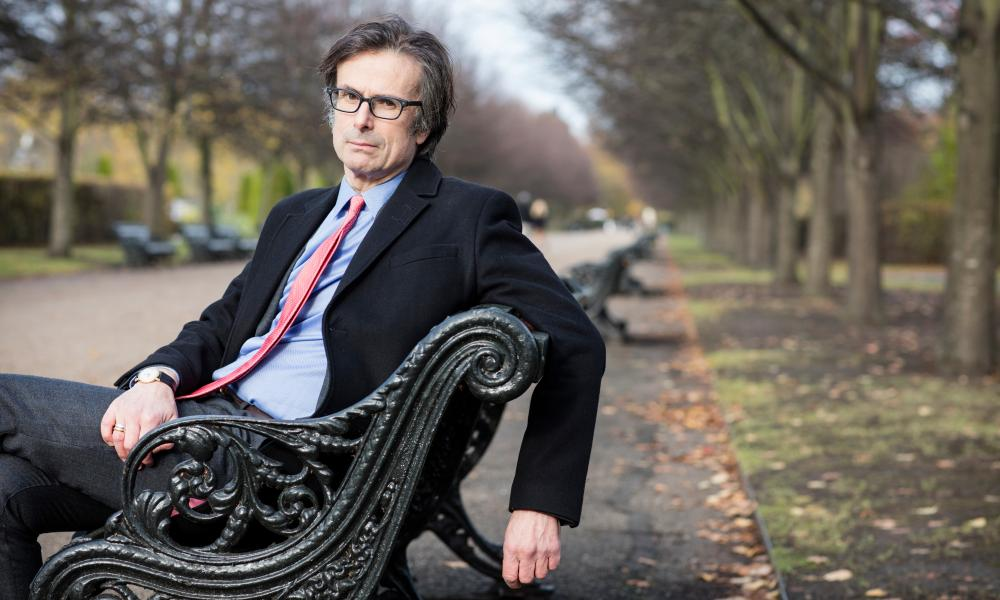 Robert Peston, 'who bears more than a passing resemblance' to the fictional Gil Peck, in Regent's Park, London, 2017