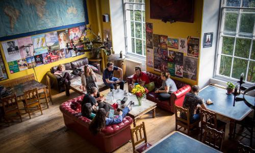 Inside the Castle Rock Hostel, winner of the best hostel in Scotland category