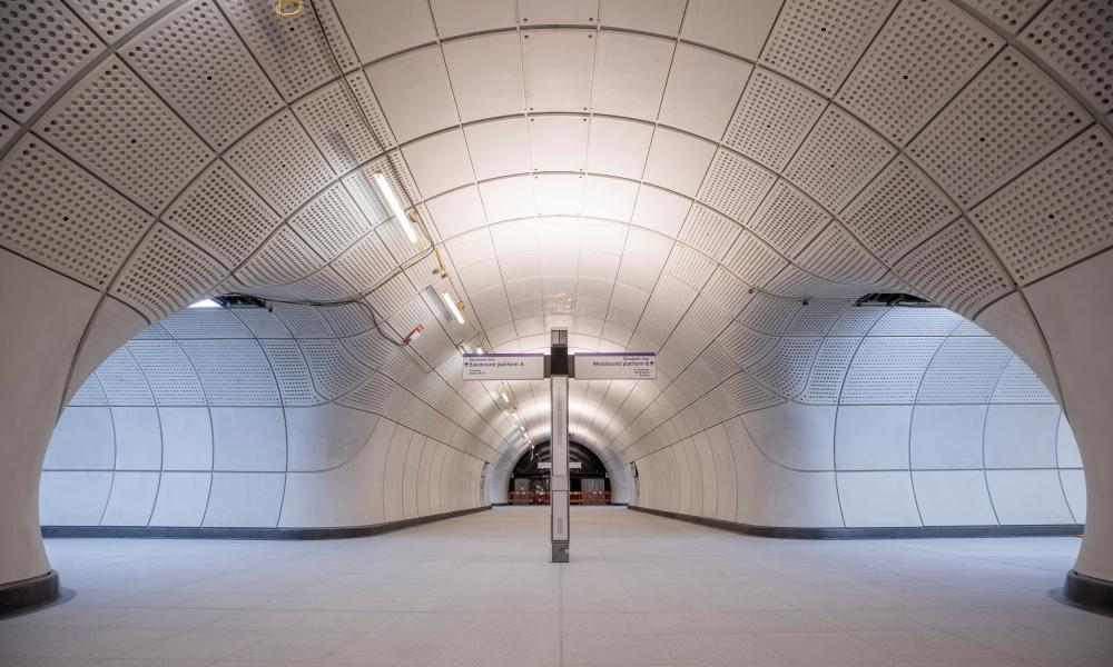 'The exhilaration of arrival' … Farringdon's new Elizabeth line station.