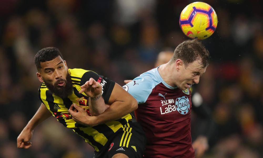 Adrian Mariappa, here in action against Burnley, says: 'I always enjoy the challenge of playing against someone who's bigger than me.'