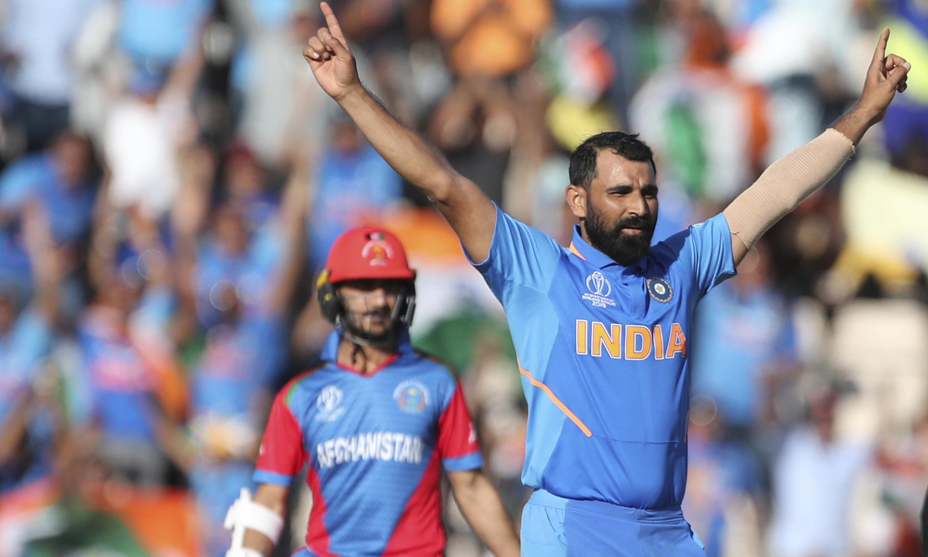 Cricket World Cup: Shami hat-trick seals India win as Afghanistan fall just short