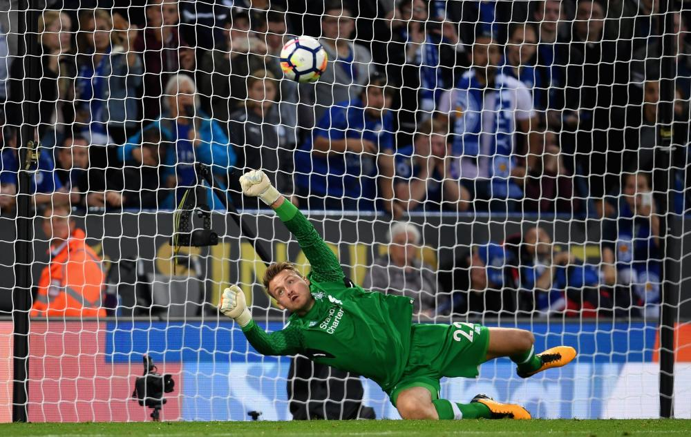 Mignolet saves the penalty.
