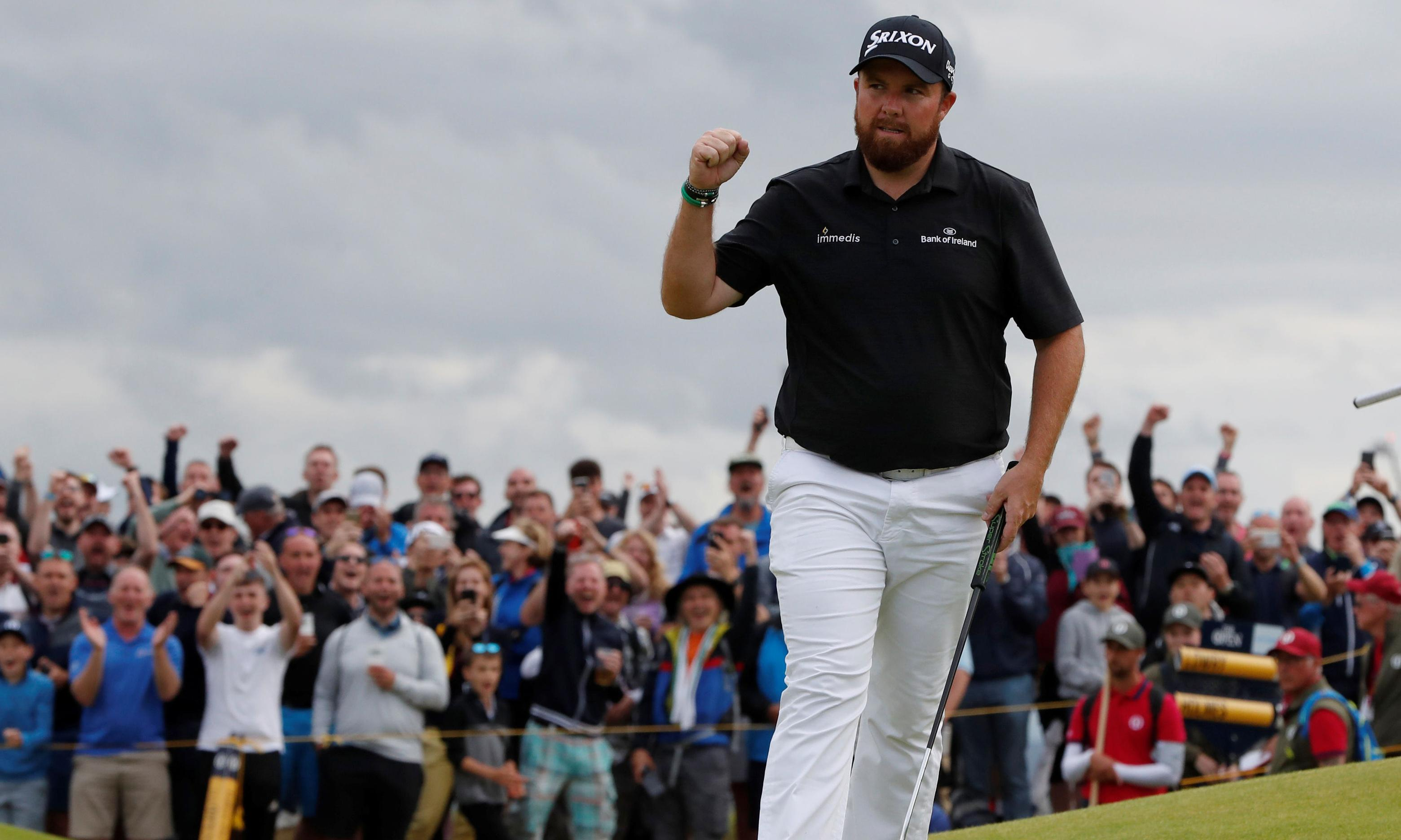 Shane Lowry storms to four-shot Open lead after emerging from almighty scrap