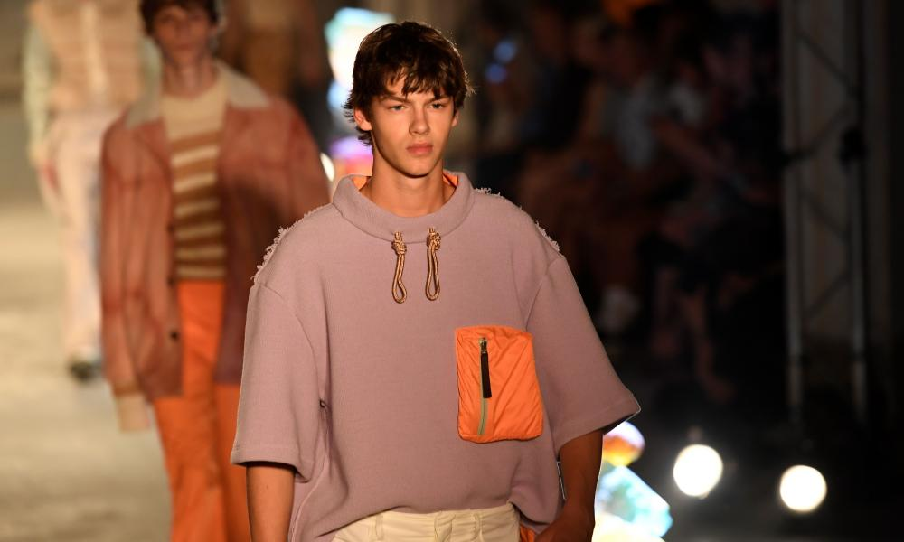 Cold water surf-inspired hoodie on the spring/summer 2019 catwalk.