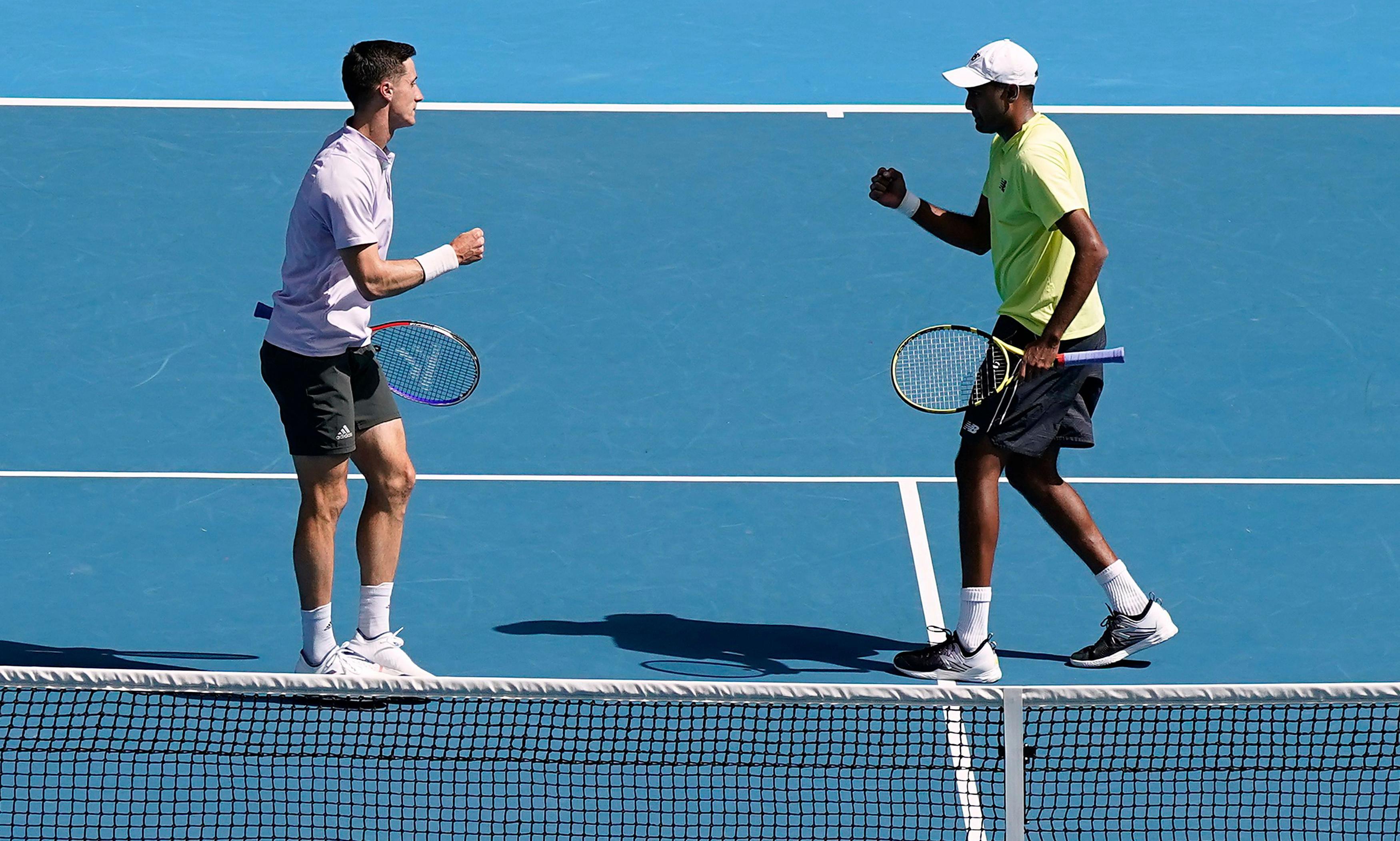 Joe Salisbury and Rajeev Ram celebrate Australian Open doubles glory