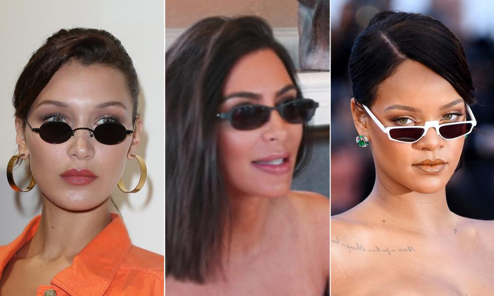 Bella Hadid, Kim Kardashian and Rihanna in tiny glasses
