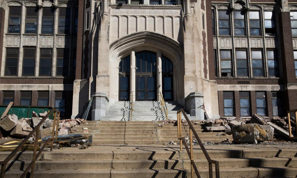 Camden High School in New Jersey is being demolished for a public school. Of the 140 worst schools identified for air pollution, 11 are in south Camden.