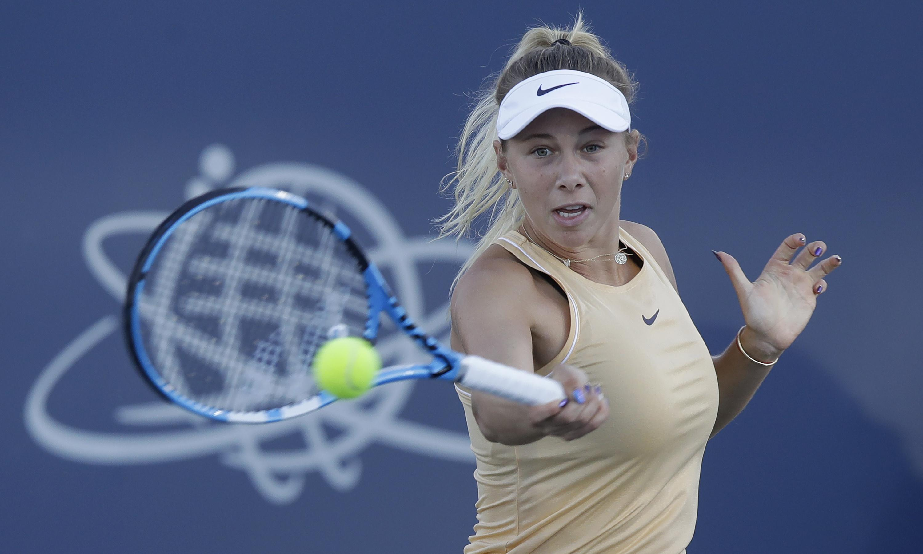 American teen Amanda Anisimova out of US Open after father's sudden death