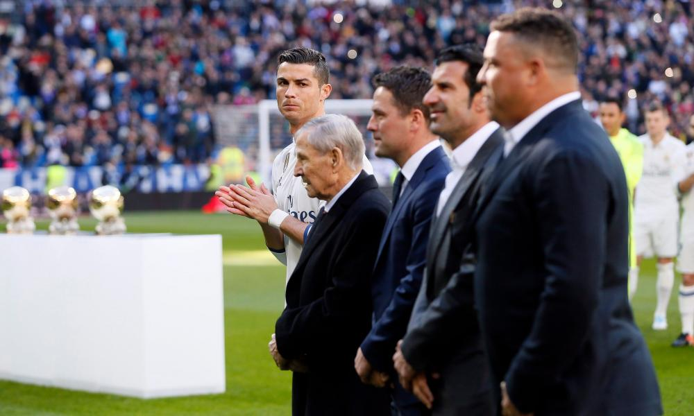 Raymond Kopa, Michael Owen, Luis Figo and the original Ronaldo are here for Cristiano's big moment.