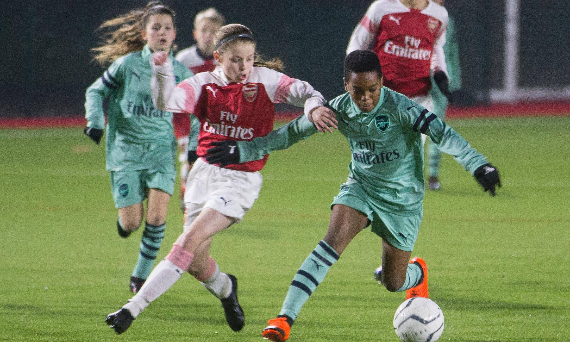 Arsenal's elite girls thrive after being put on an equal footing with the boys