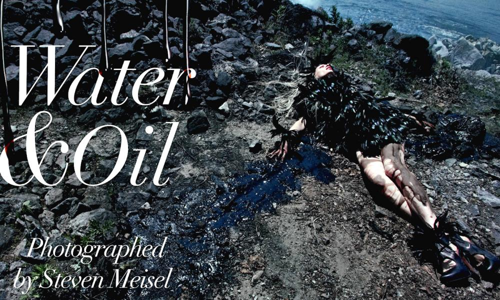 In deep water: from Steven Meisel's Water & Oil story.