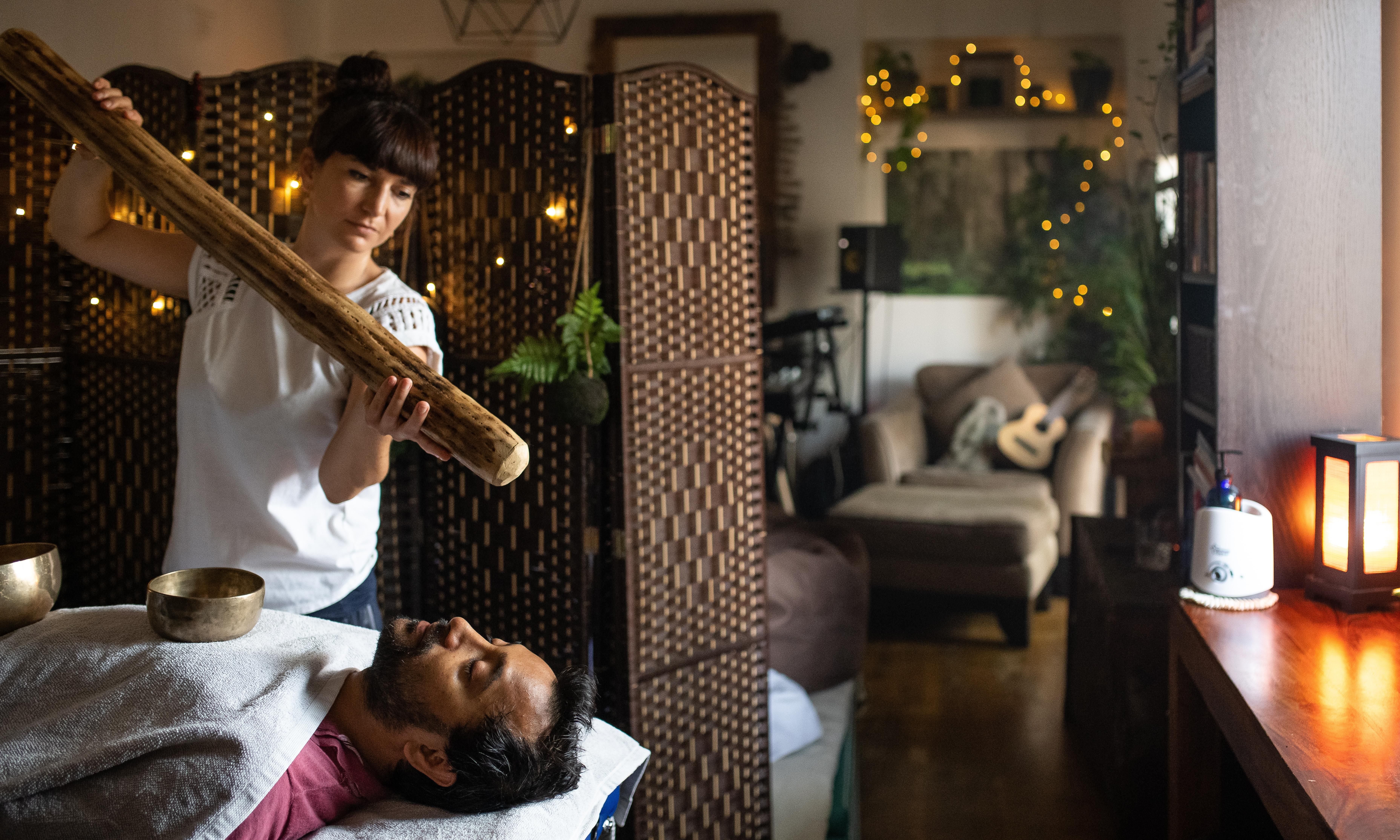 Ayurvedic massage with sound therapy: 'Is this how it feels to be a posh Pot Noodle?'