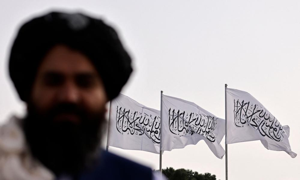 Taliban flags fly over Kabul on 11 September