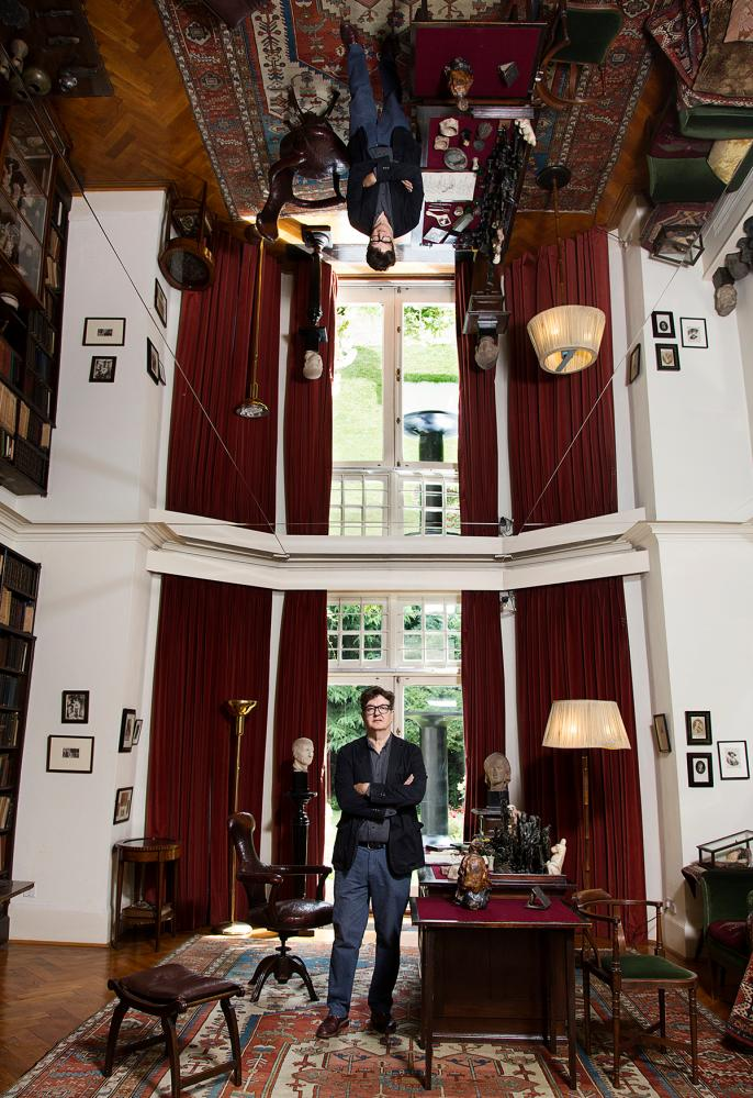 Mark Wallinger times two … the Turner prize-winner in his exhibition at the Freud Museum.