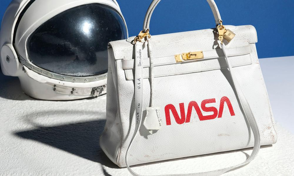Hermès's Nasa handbag up for auction at Christie's.