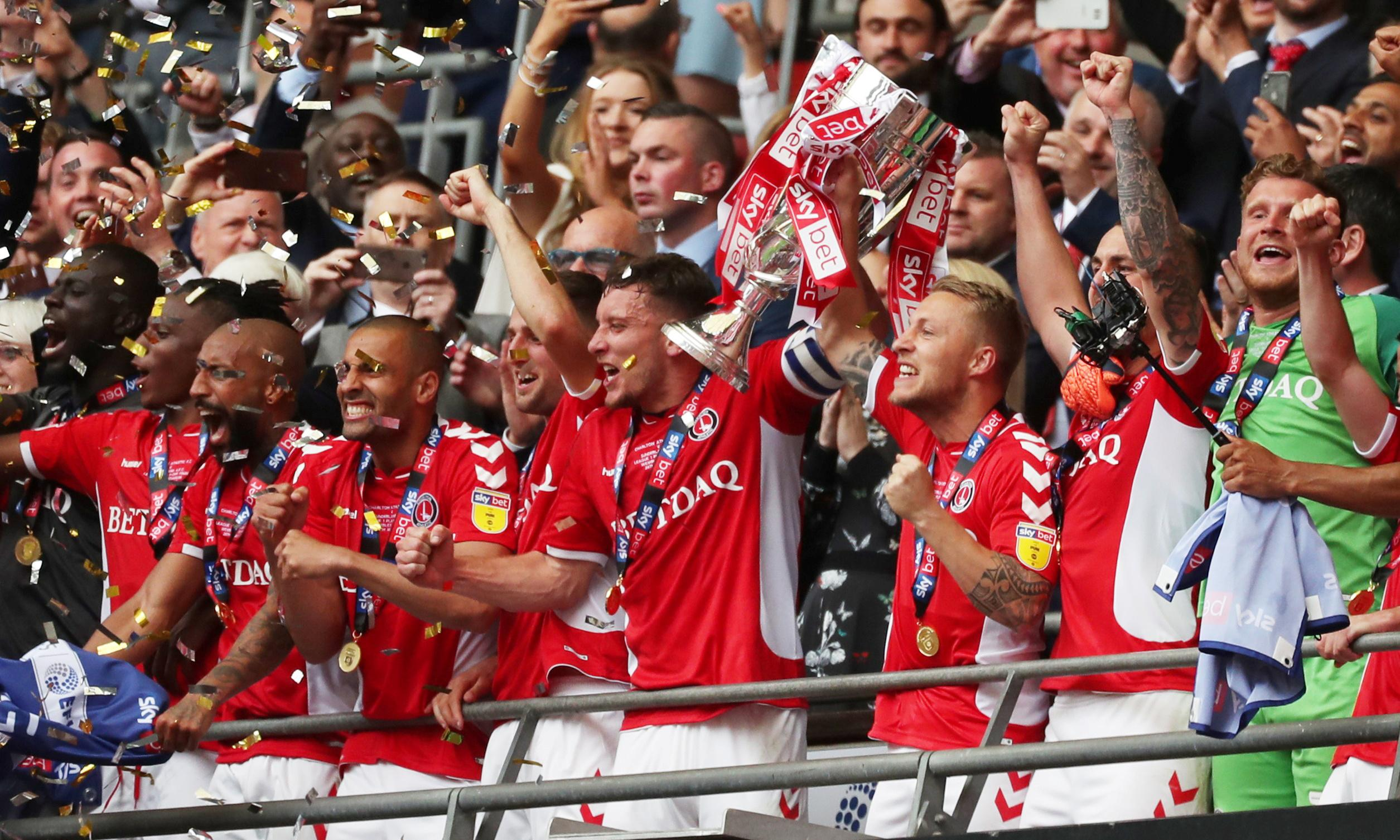 Charlton return to Championship after Patrick Bauer scores last-gasp winner