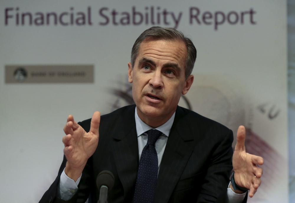 Bank of England governor Mark Carney takes part in a press conference at the Bank of England in London on December 1, 2015. Britain's seven top lenders have passed the Bank of England's stress tests, the central bank said today in its latest healthcheck on the sector. AFP PHOTO / POOL / Suzanne PlunkettSUZANNE PLUNKETT/AFP/Getty Images