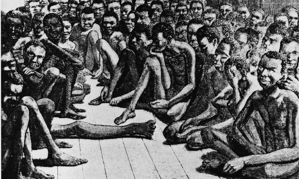 The deck of an 18th-century slave ship